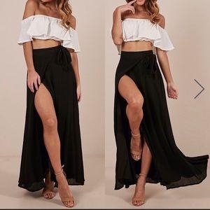 Showpo Maxi Wrap Skirt